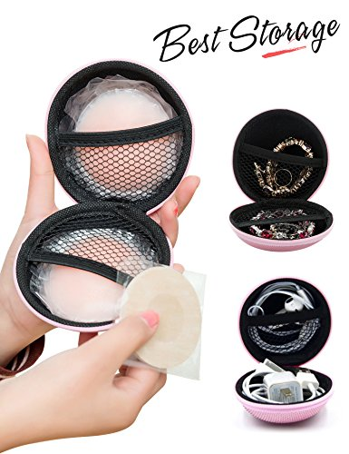 4 Pairs Nipple Covers Pasties for Women Reusable Adhesive Breast Lift Nipple Covers