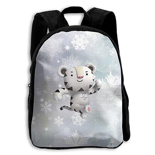 Winter Olympic Mascots (Kids Soohorang Pyeongchang 2018 Winter Olympics Mascot Unisex Full 3D Printed Width Zipper Kids' Backpacks For Children)