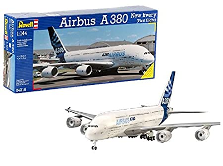 Revell- 380 Design First Flight Airbus A380 New Livery, Kit de Modelo, Escala 1:144 (4218) (04218)