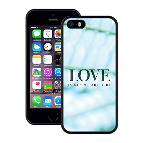 Liebe Ist Warum Wir Hier Sind | Handgefertigt | iPhone 5 5s SE | Schwarze Hülle