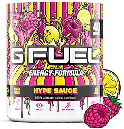 G Fuel Hype Sauce 40 Servings Elite Energy and Endurance Formula 9.8 oz.