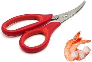 A-parts 1Pc Multifunction Seafood Scissors, Shrimp Cracker, Shrimp Deveiner, Lobster Scissors Tool