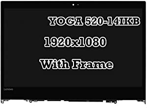 14'' 1920x1080 LCD Display Touch Screen Digitizer Assembly with Bezel Fit Lenovo Yoga 520-14IKB 81C8 80X8