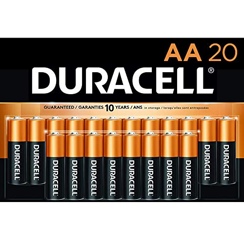 Duracell – CopperTop AA Alkaline Batteries – Long Lasting, All-Purpose Double A battery for Household and Business – 20…