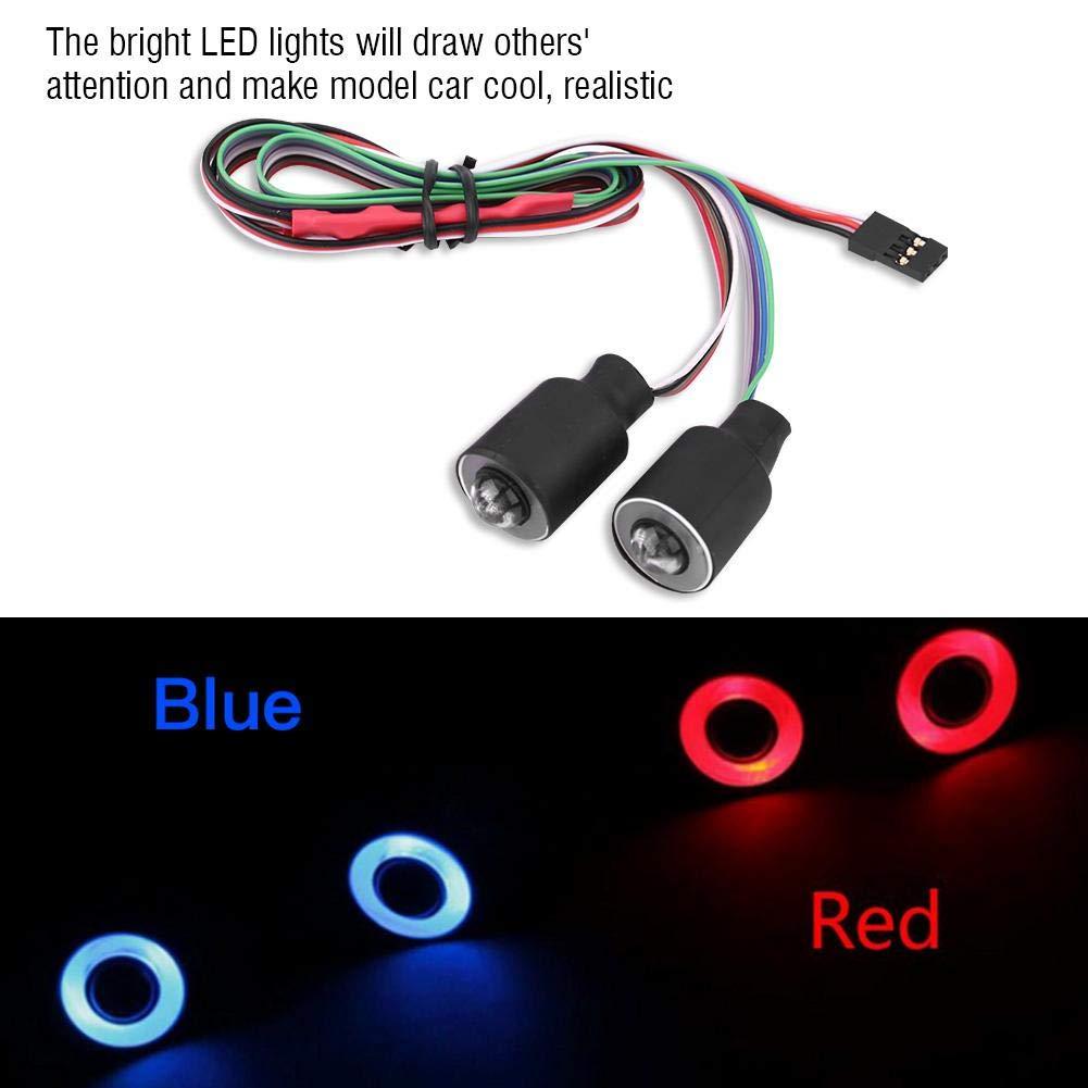 Lampada Frontale da 17 mm Accessorio per SCX10 Wrangler 1//10 Auto RC Rosso Dilwe Set Luci LED RC