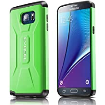 Evocel® Galaxy Note 5 Case [X-Generation Series] Slim Fit Dual Layer Design Hybrid Armor Protective Case For Samsung Galaxy Note 5 (N920A) - Retail Packaging, Lime Green