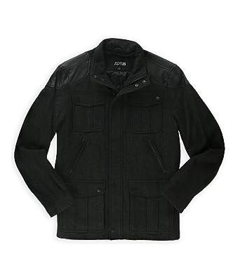 Amazon.com: Apt. 9 Mens Wool Blend Herringbone Pea Coat: Clothing