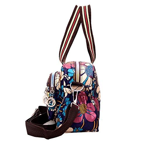 Handbag al Bag D Multicolor para hombro mujer UNYU Oxford Bolso 5qgSSC