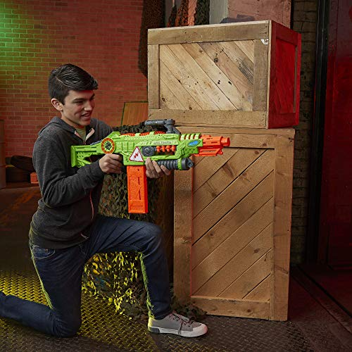 51ZYDJyXrdL - NERF Revoltinator Zombie Strike Toy Blaster with Motorized Lights Sounds & 18 Official Darts for Kids, Teens, & Adults