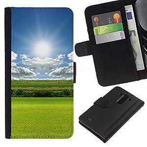 JackGot ( Naturale Campo Sun ) LG G3 la tarjeta de Crédito Slots PU Funda de cuero Monedero caso cubierta de piel