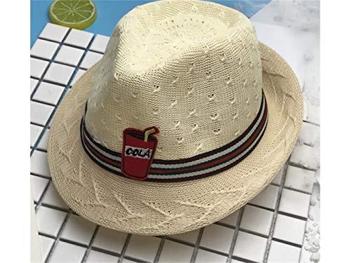Yuchoi Sun Girls Sun Flower Straw Hat Children Bowler Hat Su