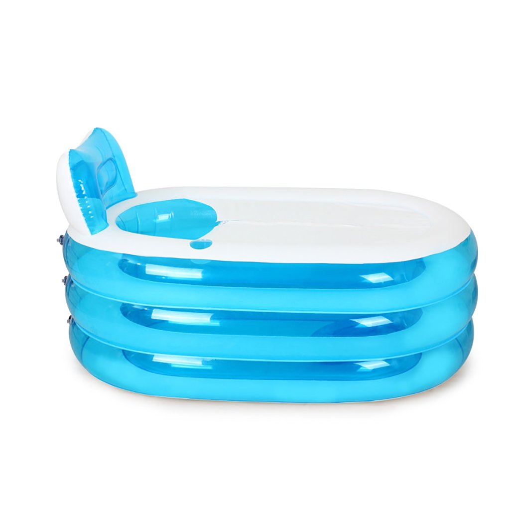 PM YuGang Foldable Inflatable Thick Warm Adults Bathtub, Children Inflatable Pool, Blue