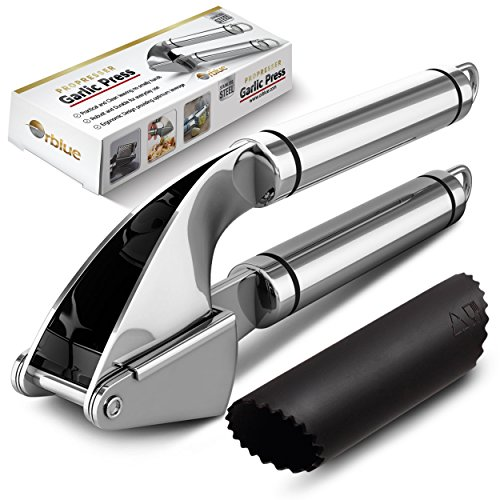 Amazon Lightning Deal 70% claimed: ORBLUE Propresser Stainless Steel Kitchen Garlic Press