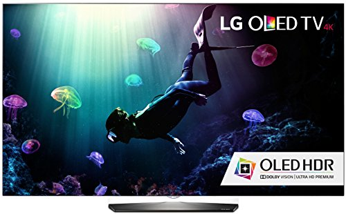 LG Electronics OLED55B6P Flat 55-Inch 4K Ultra HD Smart OLED TV (2016 Model) (Roku 3 Streaming Player W Motion Remote)