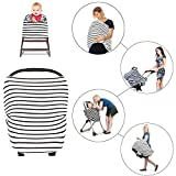 Breastfeeding Cover Scarf For Baby, Multi-Use Infinity Stretchy Shawl Nursing Covers, 100% Super Soft Cotton, Spacious & Comfortable Car Seat Canopy Stroller, Scarf, Shopping Cart For Young Mothers
