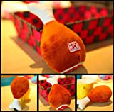 CHOUWUED Pet Dog Toys Chicken Leg Plush Dog Squeak Chew Toys Pet Training Supplies Velvet Interactive Sound Toys For Puppy Chihuahua Brown S
