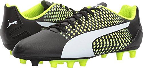 3 Fg Football Boots (PUMA Men's Adreno III FG Soccer-Shoes, Black White-Safety Yellow,10 M US)