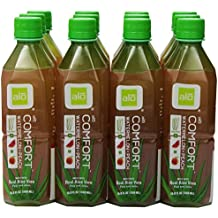 ALO Comfort Aloe Vera Juice Drink, Watermelon Plus Peach, 16.9 Ounce (Pack of 12), Cane-Sugar Sweetened, Aloin-Free, No Artificial Flavors Preservatives or Colors, Gluten Free, Vegan