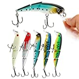 Cheap YONGZHI Fishing Lures Multi-Jointed Wobbler Crankbait Minnow and Popper Diving Topwater Lure with Treble Hooks for Bass Trout Walleye Freshwater Saltwater Swimbaits