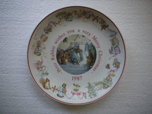 Wedgwood Peter Rabbit 1987 Christmas Plate (Made in England) (Christmas Wedgwood)
