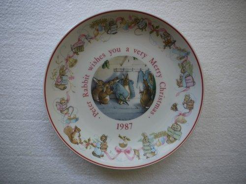Wedgwood Peter Rabbit 1987 Christmas Plate (Made in England) (Christmas Wedgwood)