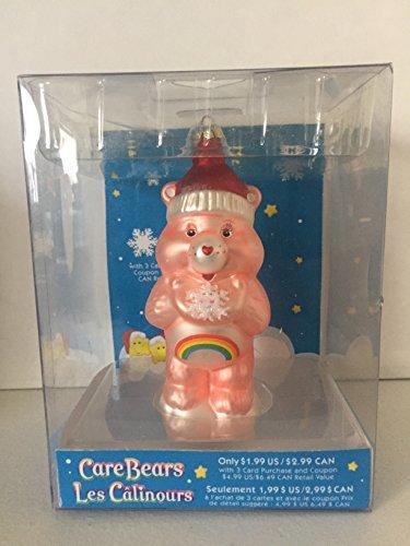 Care Bears Cheer Bear Glass Christmas Ornament