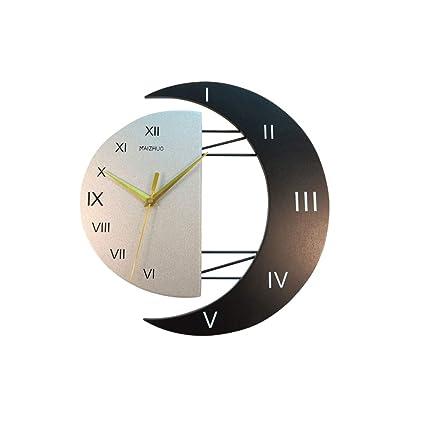 GUAz Reloj de Pared de Madera con Péndulo Decorativo Moderno - Relojes Grandes de Moda Silenciosos