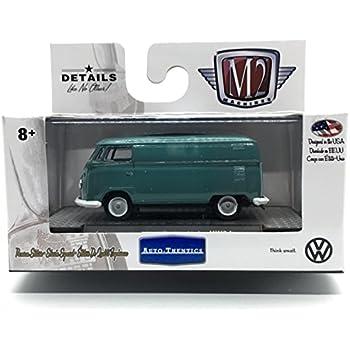 Auto-Thentics Volkswagen Release 5 M2 Machines 1960 VW Delivery Van USA Model Dove Blue /& Cream Castline 2018 Premium Edition 1:64 Scale Die-Cast Vehicle /& Display Case Set VW05 18-04