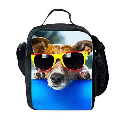 Ki-8Jcud 3D Animal Print Backpack Student School Keep Warm Lunch Box Shoulder Bag Capacity Supplies for Kids (D, 1PC)