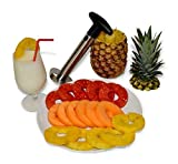 Professional Pineapple Slicer/Corer / Cutter. Fast and Easy – Slices Perfect Rings in Seconds, Makes the Best Gift, Ergonomic Grip, Dishwasher Safe, Heavy Duty Thicker Blade, Premium Stainless Steel