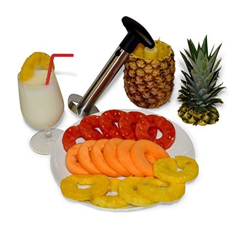 Professional Pineapple Slicer / Corer / Cutter. Fast and Easy – Slices Perfect Rings in Seconds, Makes the Best Gift, Ergonomic Grip, Dishwasher Safe, Heavy Duty Thicker Blade, Premium Stainless Steel