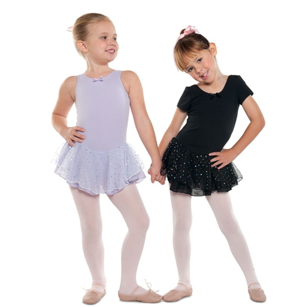 Danshuz Little Girl Black Short Sleeve Skirt Ballet Leotard Size 2-14