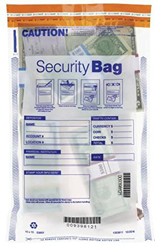 All Clear Single Pocket Deposit Bag 10 X 15, 100 Bags by EGPChecks