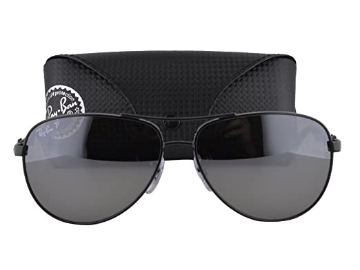 579ff7eac9 Image Unavailable. Image not available for. Color  Ray Ban RB8313 Shiny  Black w Gray Mirror Black Polarized ...