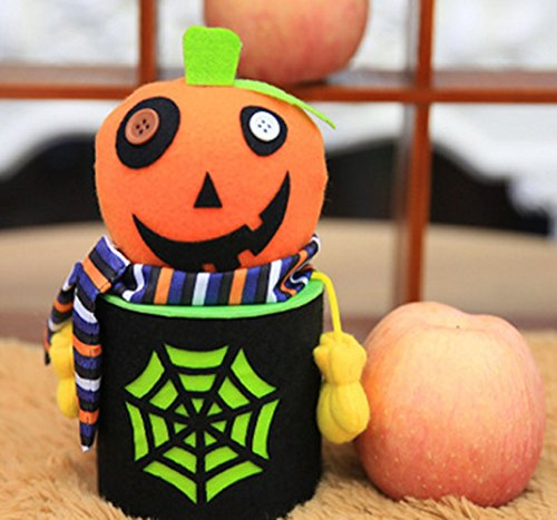 Anleolife Halloween Candy Holder Box For Kindergarten Craft Sewing Gift Box Hallowmas Decor (pumpkin) (Halloween Crafts Candy Holder)