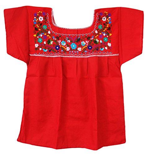 10172ff85d86c Liliana Cruz Embroidered Mexican Peasant Blouse - Delocus Store