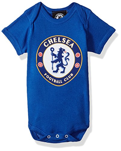 OuterStuff International Soccer Chelsea Newborn & Infant Team Logo Bodysuit, 12 Months, Royal