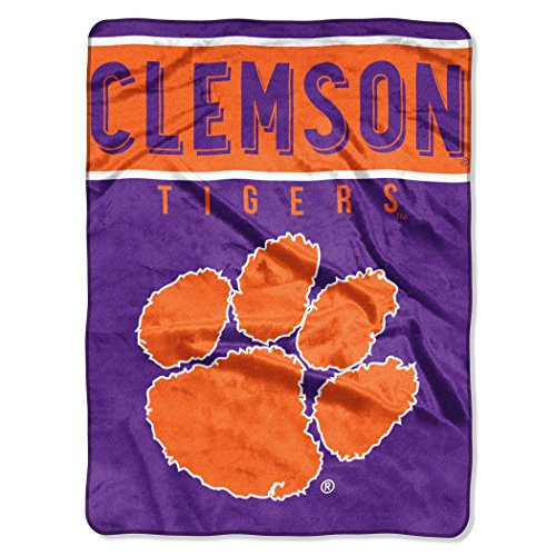The Northwest Company Officially Licensed NCAA Clemson Tigers Basic Raschel Throw Blanket, 60