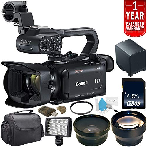 Canon XA11 Compact Full HD ENG Camcorder #2218C002 + 128GB SDXC Class 10 Memory Card + Battery for Canon BP828 + 58mm UV Filter Bundle