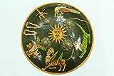 Rajashan Gems Handmade painted animal figures Battle Armory steel Shield Dhal 12.0 inch