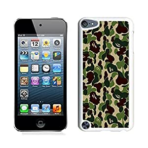 linJUN FENGCoolest Soft Ipod Touch 5 Case Stylish Camo Designer Durable TPU Silicone White Cover for Ipod 5th Generations