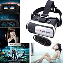 "LarKoo 3D BOX VR Headsets Virtual Reality Headset Glasses with Bluetooth Remote Controller for 4.7"" - 6.0"" iphone 4S 5 5S 5C 6 6S Plus SE Galaxy S4 S5 S7 S7 Edge + LG Sony HTC 3D Movies Games"
