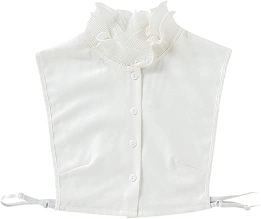 Gwxevce Mujer Sweet Layer Agaric Ruffles Stand Falso Cuello Falso con Media Camisa: Amazon.es: Hogar