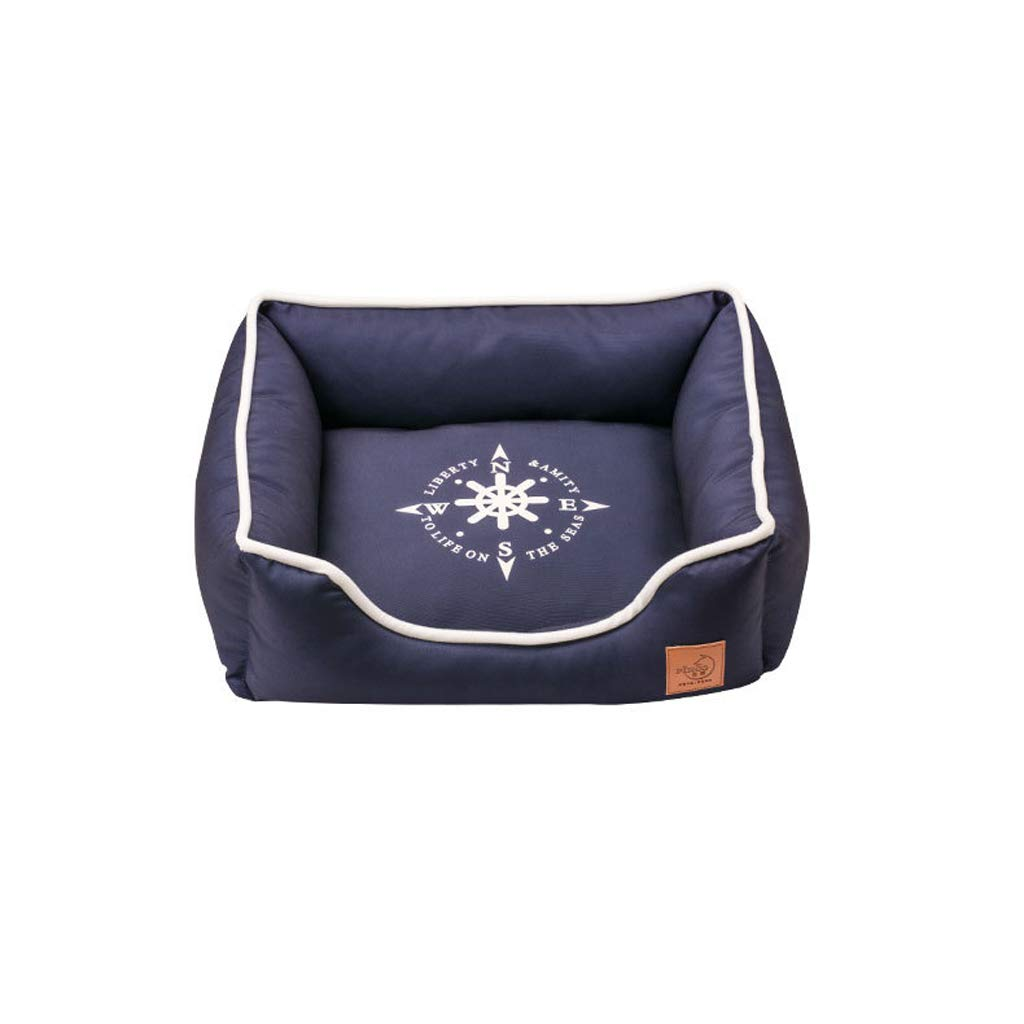 B M B M 66ccwwww Pet bed Kennel, kennel thickening pet nest cat litter small medium and large dog jinmaotaidi full removable washable waterproof kennel (color   B, Size   M)
