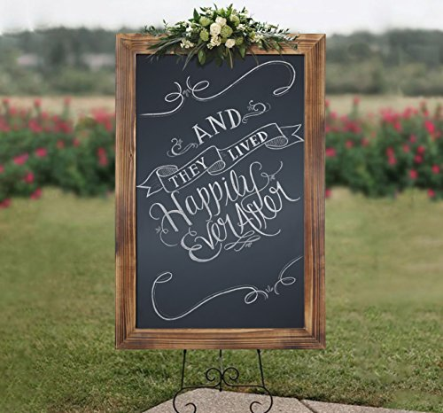 HBCY Creations Rustic Torched Wood Magnetic Wall Chalkboard, Extra Large Size 20'' x 30'', Framed Decorative Chalkboard - Great for Kitchen Decor, Weddings, Restaurant Menus and More! … (20'' x 30'') by HBCY Creations (Image #6)