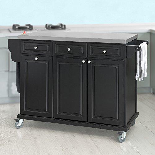 SoBuy® Neu Luxus-Küchenwagen mit Edelstahlplatte,Servierwagen ...