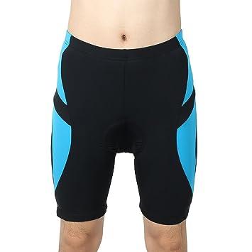 sourcingmap Hombres al aire libre bicicleta ropa interior 3d acolchado transpirable ciclismo pantalones de deporte la