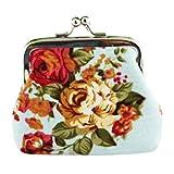 Nevera omen Lady Retro Vintage Flower Small Wallet Hasp Purse Clutch Bag