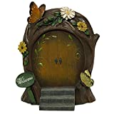 tiny craft brackets - Giftcraft Miniature Garden Woodland Fairy Gnome Door - Butterfly