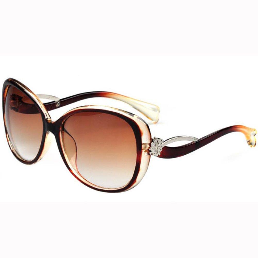 Qingsun Moda Gafas de Sol Fashion Sunglasses Protección de Ojos para Mujer Marrón